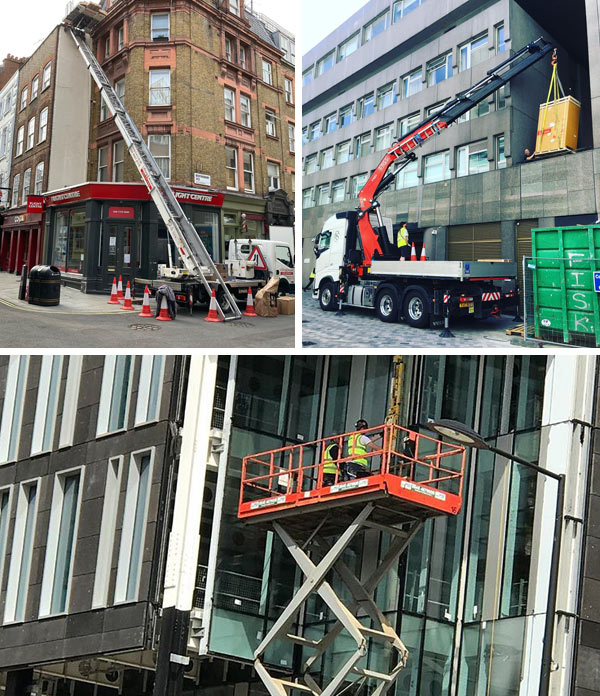 Crane hire and Hiab Hire in London